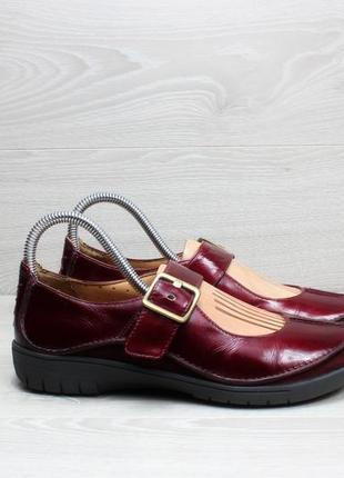 Бордовые женские туфли clarks оригинал, размер 38 - 38.5 (бале...