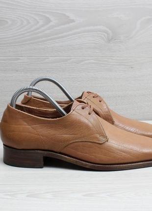 Кожаные мужские туфли grenson england, размер 40 (дерби)