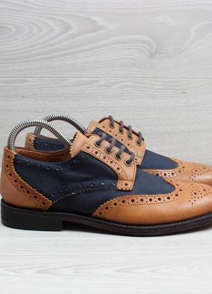 Кожаные мужские туфли john white, размер 40