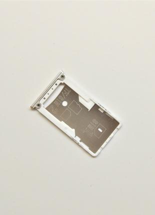 Держатель Сим карты Xiaomi Redmi 4 Silver