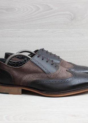 Кожаные мужские туфли броги red foot, размер 44