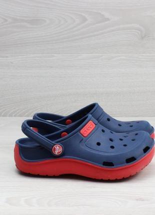 Детские синие кроксы crocs оригинал, размер 31 - 32 (клоги)
