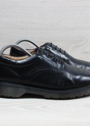 Кожаные мужские туфли solovair, размер 42 (dr. martens)