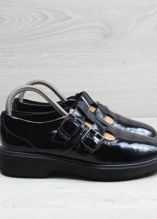 Женские кожаные туфли clarks оригинал, размер 37.5 (лакированные)