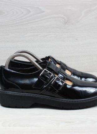 Женские кожаные туфли clarks оригинал, размер 39.5 (лакированные)