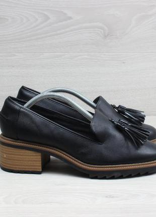 Женские туфли лоферы на каблуке clarks оригинал, размер 38.5