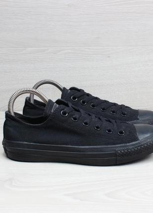 Черные кеды converse all star оригинал, размер 37.5 (mono black)