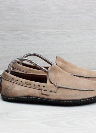 Кожаные мужские мокасины timberland оригинал, размер 40 - 41