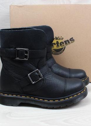 Кожаные женские ботинки dr. martens оригинал, размер 36 (черные)