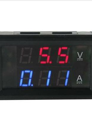 Цифровой амперметр-вольтметр 100В 10А