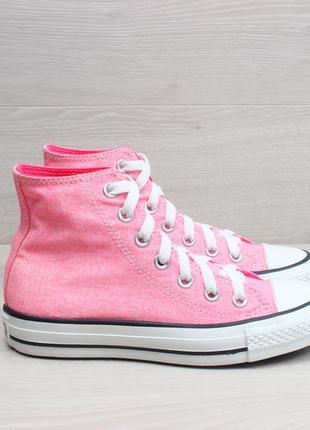 Розовые высокие кеды converse all star оригинал, размер 35