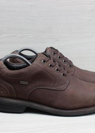 Кожаные мужские туфли marks&spencer waterproof, размер 42.5 (б...