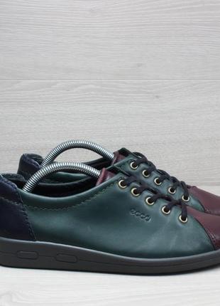 Женские кожаные кроссовки ecco оригинал, размер 38 (кеды)