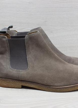 Замшевые мужские ботинки next chelsea boots, размер 44 (челси)