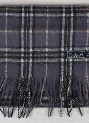 Шерстяной шарф в клетку hla london