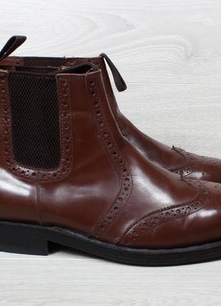 Кожаные мужские ботинки челси samuel windsor chelsea boots, ра...