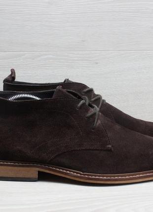 Замшевые мужские ботинки дезерты dune london, размер 44 - 44.5...