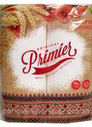 """Полотенца бумажные отрывные в рулоне """"Primier Original"""" 2 слоя"""