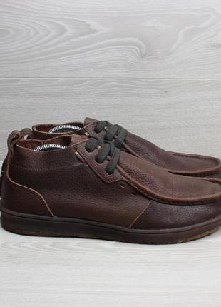 Кожаные мужские ботинки с мехом reef, размер 44