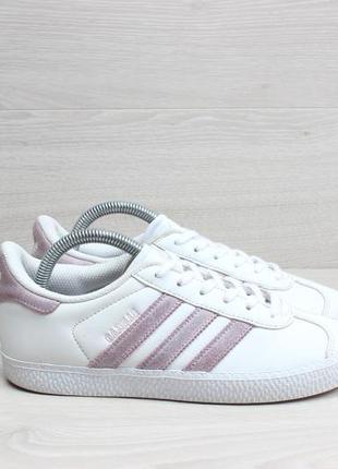 Белые кроссовки adidas gazelle оригинал, размер 34