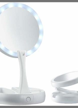 Складное зеркало с подсветкой MY FOLD JIN| Косметическое насто...