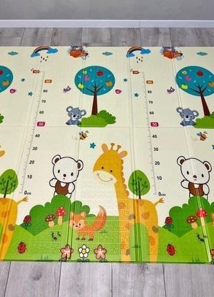 Коврик складной Звери| Детский коврик для ползания 1.5*1.8 м