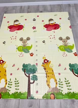 Детский коврик для ползания| Коврик складной Зверята 1.5*1.8 м
