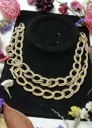 Винтажное ожерелье-цепь crown trifari + подврок