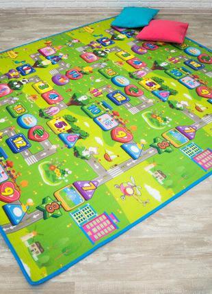 Детский игровой коврик 90*150 см| Коврик складной для ползания