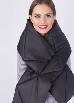Стёганый  дутый тёплый шарф, модная крутая вещица, c&a