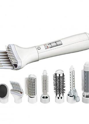 Фен для волос стайлер с насадками 8в1 GM-4832 | Фен браш возду...