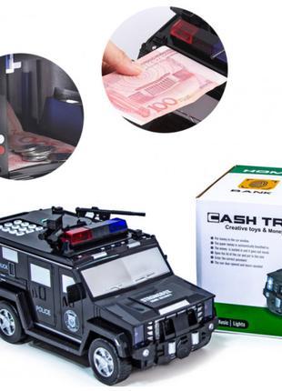 Машинка детский сейф с кодом и отпечатком пальца CASHTRUCK   Д...