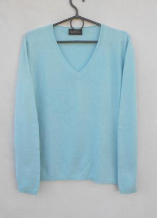 Итальянский трикотажный свитер джемпер кашемир шелк с длинным ...
