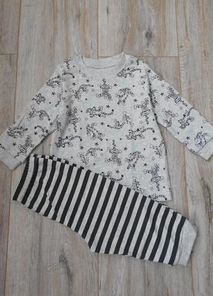 Пижама с тигрулей george 6-9, 12-18 мес
