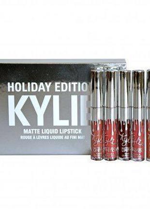 Набор матовых помад Kylie Birthday Edition silver