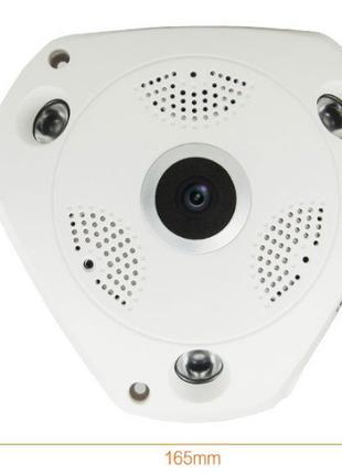 Панорамная Wi-Fi камера видеонаблюдения 360° (рыбий глаз) 1080