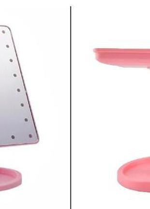 Зеркало для макияжа с подсветкой и подставкой H0170