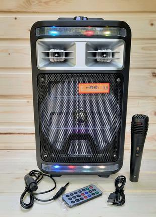 Портативная колонка с проводным микрофономKimiso QS-4000