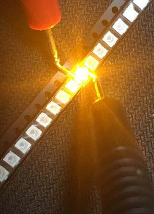 Светодиод SMD 3528 Yellow LED. Желтый