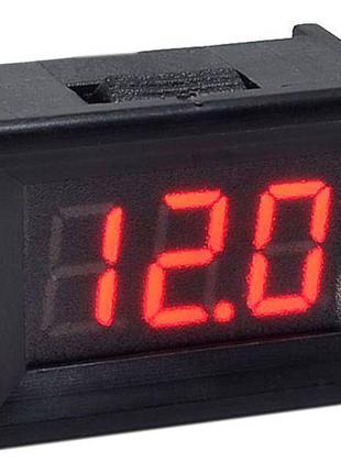Вольтметр DSN-DVM-368K цифровой 0-30V встраиваемый (три провод...