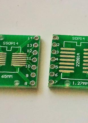 Переходник адаптер SOP14 SSOP14 на DIP14. 1 шт