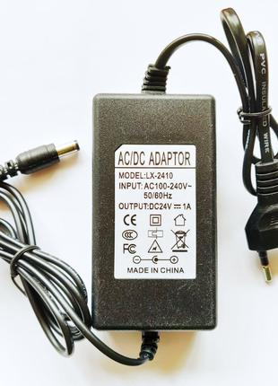 Импульсный адаптер питания 24В 1А. Блок питания LX-2401