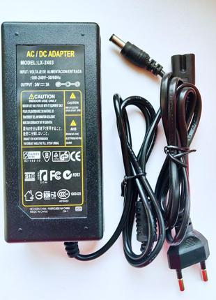 Импульсный адаптер питания 24В 3А. Блок питания LX-2403