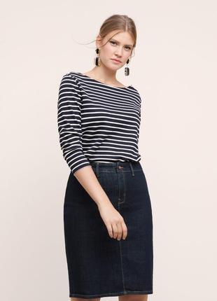 Джинсовая юбка карандаш большого размера,батал,хлопок, per una