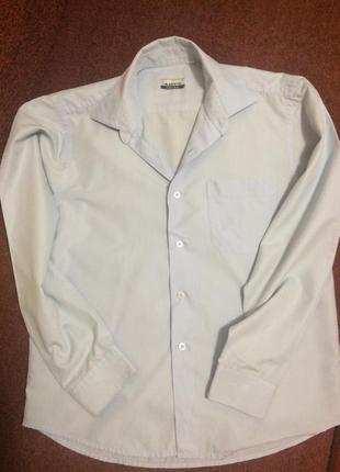 Качественная котоновая рубашка на мальчика с длинным рукавом
