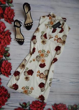 🌿нарядное, платье с чокером в цветочный принт от new look.  ра...