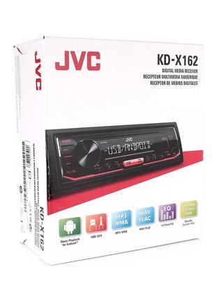 Автомагнитола JVC KD-X162 автомагнитола 1 Din,красная подсветка