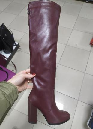Зимние женские ботфорты сапоги
