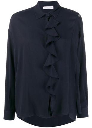 Блузка рубашка escada синего цвета