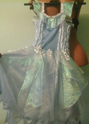 Нарядное платье, девочке ~ 6-8лет, one size